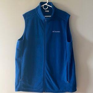 Men's Blue Fleece Columbia Vest